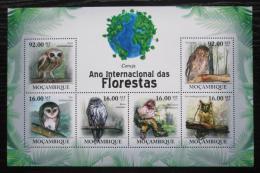 Poštovní známky Mosambik 2011 Sovy Mi# 4360-65 Kat 14€