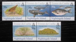 Poštovní známky Tristan da Cunha 2006 Fauna ostrova Nightingale Mi# 883-87 12€