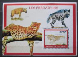 Poštovní známka Togo 2010 Šelmy Mi# Block 504 Kat 8€
