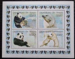 Poštovní známky Kongo 1999 Medvìdi Mi# 1609-12 Bogen