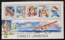 Poštovní známky Guinea-Bissau 2014 Charles Lindbergh, letadla Mi# 7060-64 Kat 13€