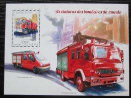 Poštovní známka Guinea-Bissau 2014 Hasièská auta Mi# Block 1295 Kat 9€