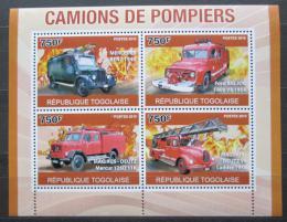 Poštovní známky Togo 2010 Hasièská auta Mi# 3709-12 Kat 12€