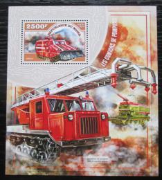 Poštovní známka Niger 2014 Hasièská technika Mi# Block 391 Kat 10€
