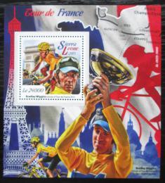 Poštovní známka Sierra Leone 2015 Tour de France Mi# Block 883 Kat 11€
