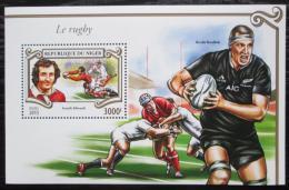Poštovní známka Niger 2015 Rugby Mi# Block 462 Kat 13€