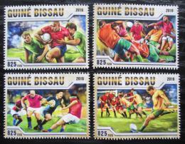 Poštovní známky Guinea-Bissau 2016 Rugby Mi# 8766-69 Kat 12.50€