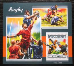 Poštovní známka Mosambik 2015 Rugby Mi# Block 1065 Kat 10€