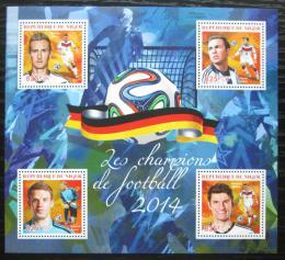 Poštovní známky Niger 2014 MS ve fotbale Mi# 3012-15 Kat 13€
