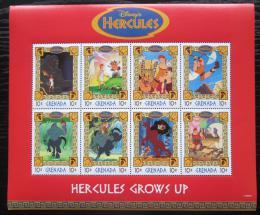 Poštovní známky Grenada 1998 Disney, Herkules Mi# 3677-84