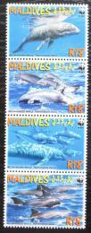Poštovní známky Maledivy 2009 Elektra tmavá, WWF Mi# 4768-71