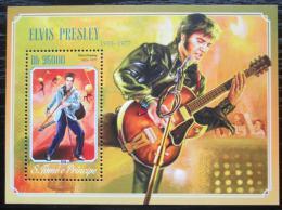 Poštovní známka Svatý Tomáš 2014 Elvis Presley Mi# Block 1045 Kat 10€