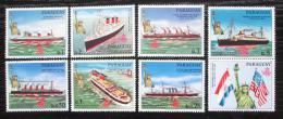 Poštovní známky Paraguay 1986 Lodì a Socha svobody s kupónem Mi# 4003-09