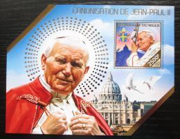 Poštovní známka Niger 2014 Papež Jan Pavel II. Mi# Block 320 Kat 10€