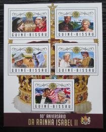 Poštovní známky Guinea-Bissau 2016 Královna Alžbìta II. Mi# 8991-95 Kat 13.50€