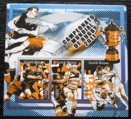 Poštovní známky Guinea-Bissau 2011 MS v rugby Mi# 5661-63 Kat 12€