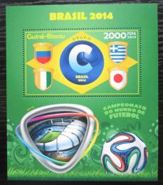 Poštovní známka Guinea-Bissau 2014 MS ve fotbale, skupina C Mi# Block 1258 Kat 8€