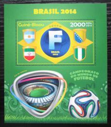 Poštovní známka Guinea-Bissau 2014 MS ve fotbale, skupina F Mi# Block 1261 Kat 8€