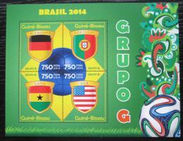Poštovní známky Guinea-Bissau 2014 MS ve fotbale, skupina G Mi# 7210-13 Kat 12€