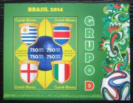 Poštovní známky Guinea-Bissau 2014 MS ve fotbale, skupina D Mi# 7198-7201 Kat 12€