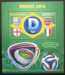 Poštovní známka Guinea-Bissau 2014 MS ve fotbale, skupina D Mi# Block 1259 Kat 8€