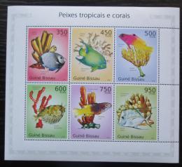 Poštovní známky Guinea-Bissau 2010 Ryby a korály Mi# 5073-78 Kat 14€
