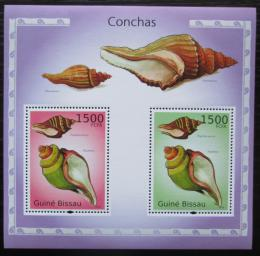 Poštovní známky Guinea-Bissau 2010 Mušle Mi# Block 875 Kat 12€