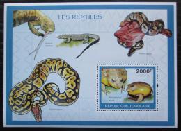 Poštovní známka Togo 2010 Obojživelníci a plazi Mi# Block 497 Kat 8€