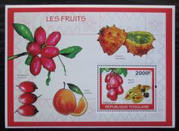 Poštovní známka Togo 2010 Ovoce Mi# Block 491 Kat 8€