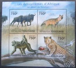 Poštovní známky Togo 2011 Fauna pouštì Kalahari Mi# 4141-44 Kat 12€