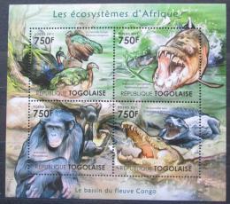 Poštovní známky Togo 2011 Fauna konžské pánve Mi# 4185-88 Kat 12€
