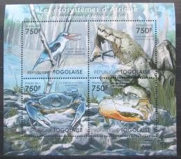 Poštovní známky Togo 2011 Fauna jihoafrických mangrovníkù Mi# 4161-64 Kat 12€