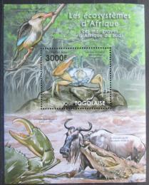 Poštovní známka Togo 2011 Fauna jihoafrických mangrovníkù Mi# Block 642 Kat 12€