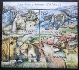 Poštovní známky Togo 2011 Fauna pohoøí Atlas Mi# 4201-04 Kat 12€
