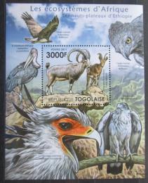 Poštovní známka Togo 2011 Fauna Etiopské vysoèiny Mi# Block 654 Kat 12€