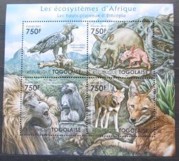 Poštovní známky Togo 2011 Fauna Etiopské vysoèiny Mi# 4209-12 Kat 12€