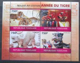Poštovní známky Togo 2010 Èínský nový rok, rok tygra Mi# 3584-87 Kat 12€