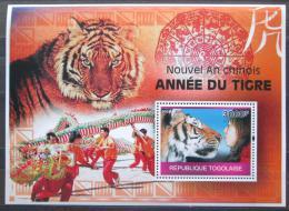 Poštovní známka Togo 2010 Èínský nový rok, rok tygra Mi# Block 528 Kat 12€