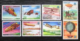 Poštovní známky Paraguay 1984 Historie letectví s kupónem Mi# 3698-3704 Kat 8€