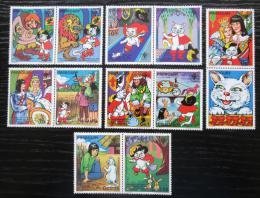 Poštovní známky Paraguay 1982 Kocour v botách s kupónem Mi# 3482-88 Kat 7.50€