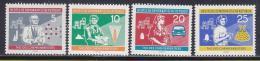 Poštovní známky DDR 1960 Den pracovníkù v chemickém prùmyslu Mi# 800-03