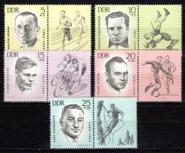 Poštovní známky DDR 1963 Sportovci, obìti fašismu Mi# 958-62 Kat 12€