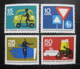 Poštovní známky DDR 1966 Bezpeènost silnièního provozu Mi# 1169-72