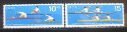 Poštovní známky DDR 1966 MS ve veslování Mi# 1202-03