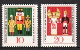 Poštovní známky DDR 1967 Lidové umìní Mi# 1333-34