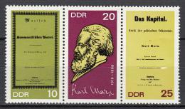 Poštovní známky DDR 1968 Karl Marx Mi# 1365-67