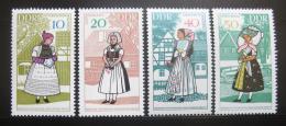 Poštovní známky DDR 1968 Lidové kroje Mi# 1353-56