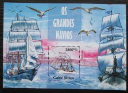 Poštovní známka Guinea-Bissau 2013 Plachetnice Mi# Block 1179 Kat 11€