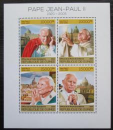 Poštovní známky Guinea 2014 Papež Jan Pavel II. Mi# 10222-25 Kat 20€