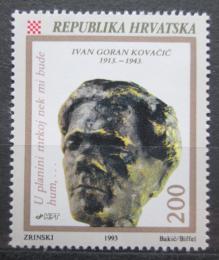 Poštovní známka Chorvatsko 1993 Ivan Goran Kovaèiè, spisovatel Mi# 233